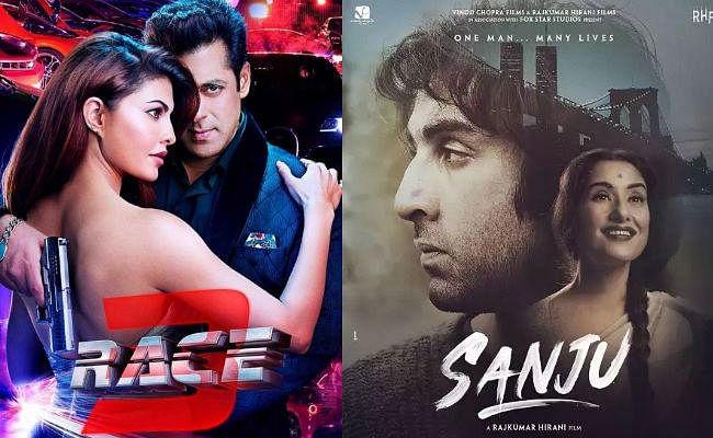 Race 3 Vs Sanju: 300 करोड़ के पार हुई सलमान खान की ''रेस 3'', लेकिन ''संजू'' के आगे निकला दम