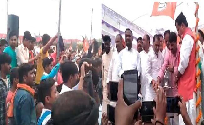 BJP सांसद मनोज तिवारी को स्वर्ण समाज के लोगों ने दिखाया काला झंंडा