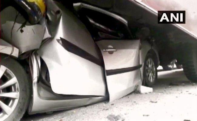 मुजफ्फरपुर : कोहरे और लो विजिबिलिटी के कारण आपस में भिड़े कई वाहन, एक की मौत 15 घायल