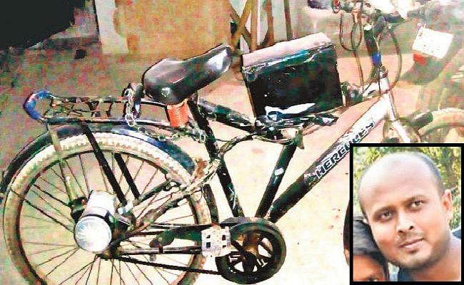 पिता की परेशानी देख बेटे ने बनायी इलेक्ट्रॉनिक साइकिल, दिव्यांगों का सफर भी होगा आसान