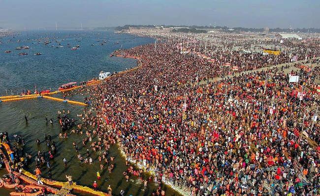 Kumbh Mela 2019 : दूसरे स्नान पर्व पर प्रयागराज में उमड़ी श्रद्धालुओं की भीड़, पौष पूर्णिमा के साथ शुरू हुआ कल्पवास
