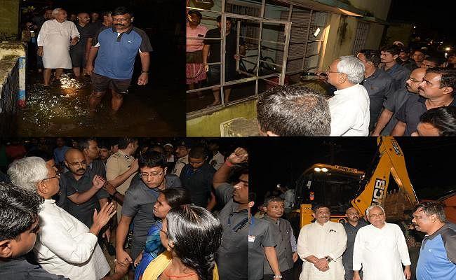 बिहार : सीएम नीतीश ने पटना में जल-जमाव वाले क्षेत्र का लिया जायजा, आम लोगों की सुनी समस्याएं