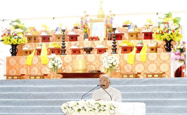 एकता, शांति और अहिंसा का प्रतीक है राजगीर का विश्व शांति स्तूप : रामनाथ कोविंद