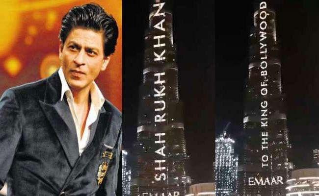 VIDEO: शाहरुख खान के बर्थडे पर उनके नाम से जगमगाया बुर्ज खलीफा