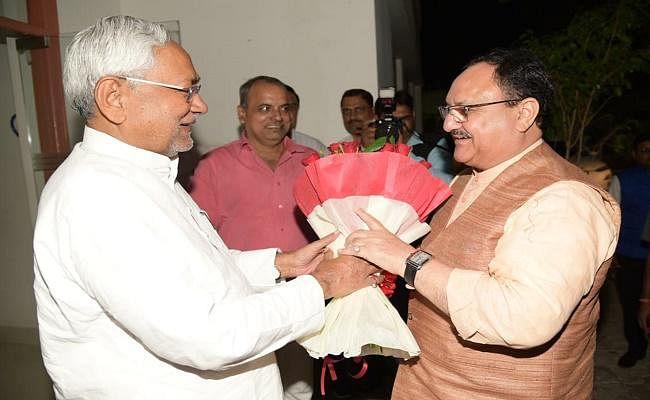 भाजपा कोर कमेटी की बैठक के बाद सीएम नीतीश से मिले जेपी नड्डा