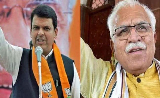 Maharashtra Govt Formation: खट्टर ने फड़णवीस, अजित पवार को बधाई दी