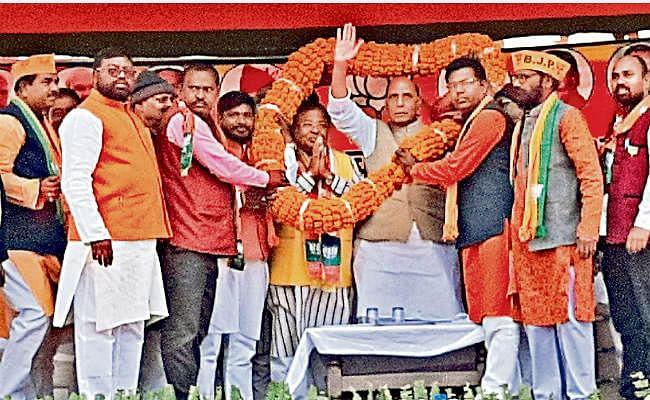 झारखंड विधानसभा चुनाव 2019 : बेरमो व आदित्यपुर में रक्षा मंत्री राजनाथ सिंह ने की सभा, कहा- पहले चरण की 10 सीट हमारी