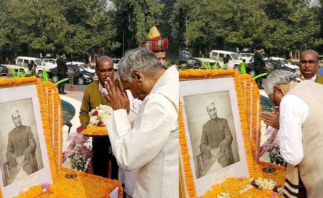 डॉ राजेंद्र प्रसाद की जयंती पर मुख्यमंत्री और राज्यपाल ने दी श्रद्धांजलि, विजिटर बुक पर CM नीतीश ने लिखा...