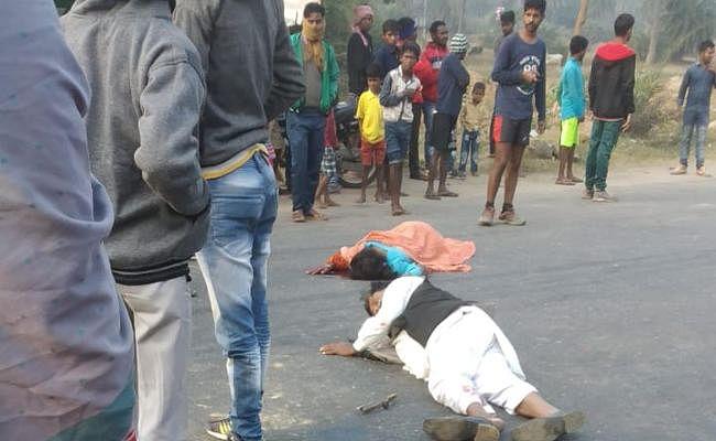 धनबाद में सड़क दुर्घटना के बाद 45 मिनट तक सड़क पर पड़े रहे दो घायल