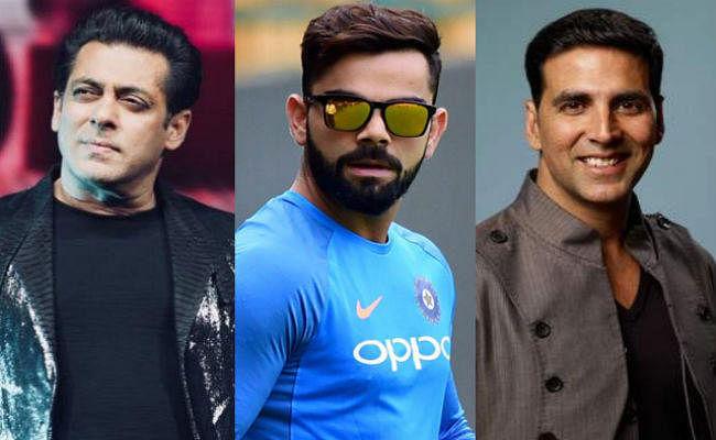 Forbes India 100 Celebs List 2019 : सलमान और अक्षय को पीछे छोड़ विराट कोहली टॉप पर, देखें पूरी लिस्ट