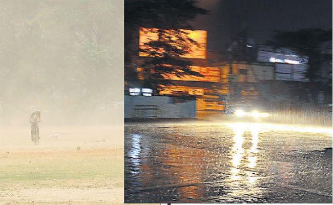 पटना : दिन में चली धूल भरी आंधी व रात में हुई झमाझम बारिश, अगले पांच दिन भी आंधी, ओलावृष्टि व बरसात की आशंका