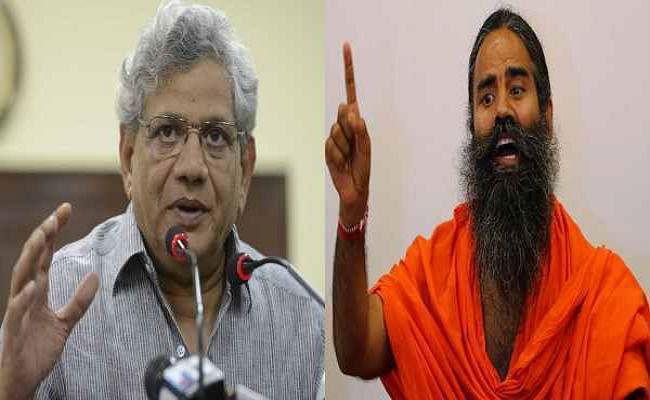 रामायण महाभारत के हिंसक हिंदू : सीताराम येचुरी के बयान पर रामदेव ने खोला मोर्चा, दर्ज करायी शिकायत