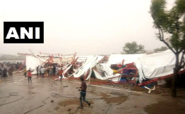 राजस्थान : बाड़मेर में रामकथा के दौरान आंधी-तूफान में गिरा पंडाल, 14 लोगों की मौत, PM ने जताया शोक