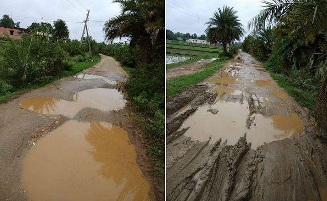 चौपारण : कीचड़ में तब्दील हुई सड़क, पैदल चलना भी हुआ मुश्किल
