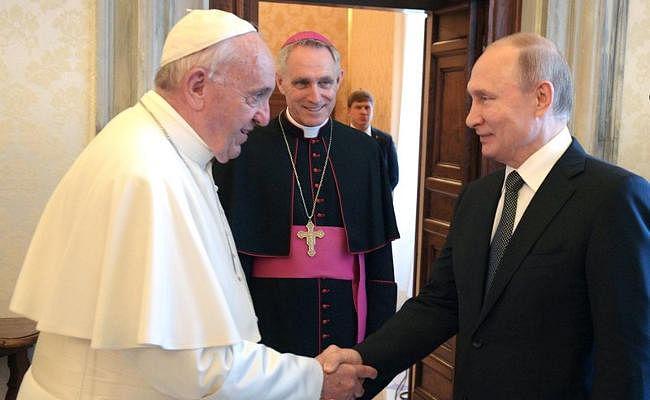 पोप से मिले पुतिन, यूरोपीय संघ के साथ संबंध बेहतर करने के लिए इटली की मदद मांगी