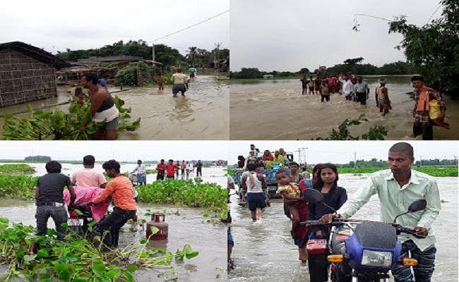 बिहार : आफत की बारिश ने तोड़ा प्रखंडों का जिला मुख्यालय से संपर्क, कई गांव टापू में तब्दील