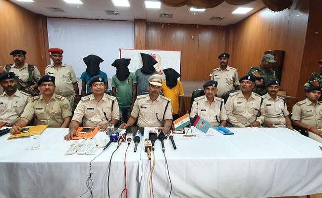 झारखंड में पांच पुलिसकर्मियों को मौत के घाट उतारने वाले नक्सली दस्ते के 4 सदस्य गिरफ्तार