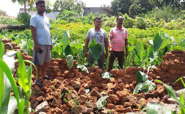 कुजू : चैनपुर में हाथियों के झुंड ने किया फसलों को बर्बाद, घर की चहारदीवारी तोड़ी