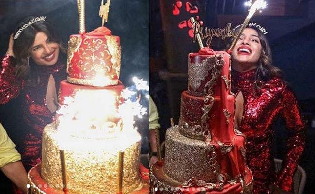 OMG! प्रियंका चोपड़ा ने बर्थडे पर काटा था 3 लाख का केक, PHOTO