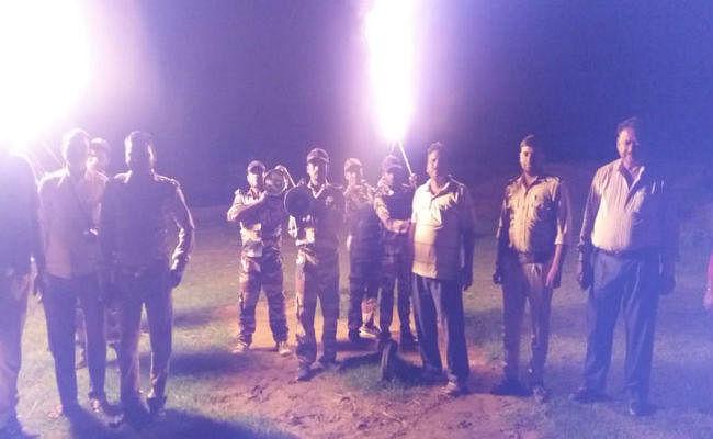 कुजू में हाथियों का प्रकोप, रेंजर व टीम ने चलाया तलाशी अभियान