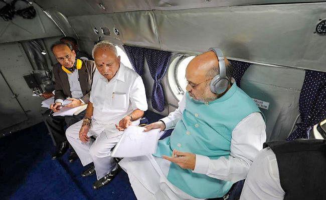 कर्नाटक-केरल में बाढ़ का कहर जारी, अमित शाह ने किया प्रभावित क्षेत्रों का हवाई सर्वेक्षण