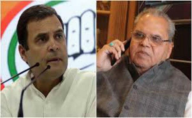 कश्मीर के राज्यपाल के ऑफर पर राहुल गांधी ने दिया जवाब, कहा- प्लेन मत भेजिए, बस ये दे दीजिए