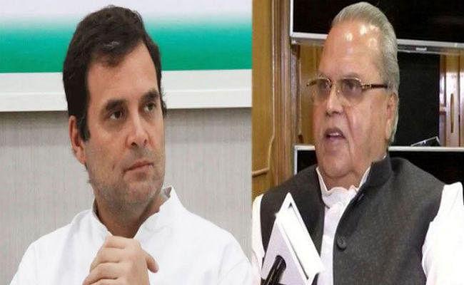 राज्यपाल सत्यपाल मलिक को राहुल गांधी ने दिया जवाब- मैं बिना शर्त जम्मू-कश्मीर आने को तैयार हूं