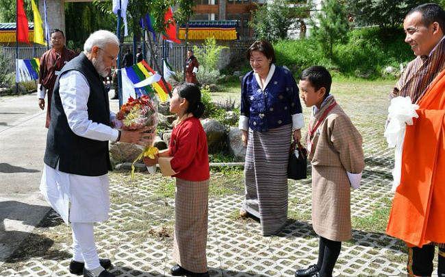 पीएम मोदी की भूटान यात्रा तस्वीरों में