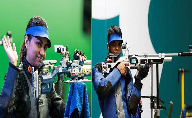 विश्व निशानेबाजी: अपूर्वी-दीपक की जोड़ी ने 10 मीटर एयर राइफल में मिश्रित स्पर्धा का स्वर्ण पदक जीता