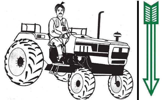 JDU का झारखंड में चुनाव चिह्न बदला, ''तीर'' के बदले मिला ''ट्रैक्टर चलाता किसान''