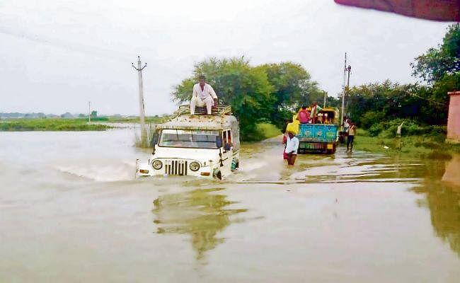 दानापुर : गंगा उफान पर, ग्रामीण इलाकों में लोग सहमे