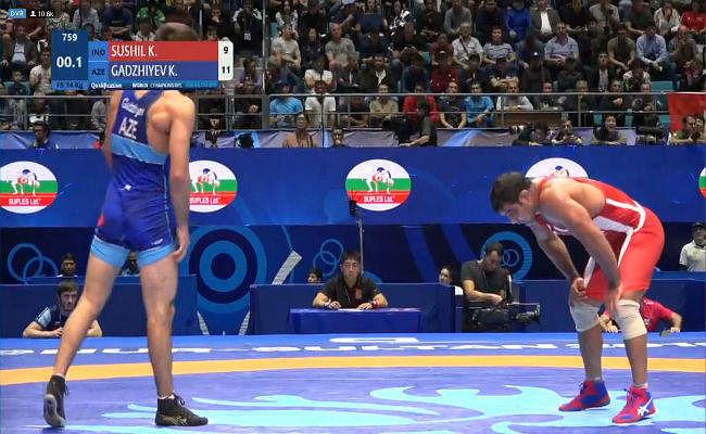 पहलवान सुशील कुमार  की विश्व चैम्पियनशिप में आठ साल वापसी, पहले ही राउंड में हारे