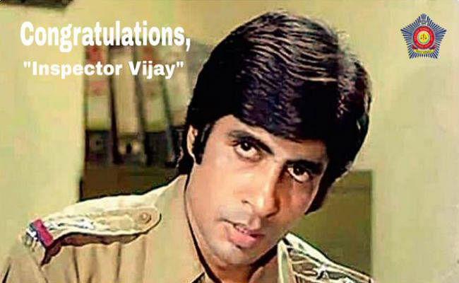 Dada Saheb Phalke के लिए मुंबई पुलिस ने ''इंस्पेक्टर विजय'' अमिताभ को ऐसे दी बधाई