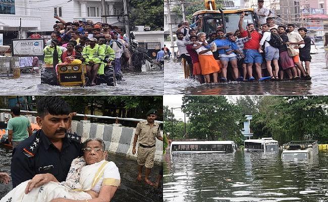 पटना में बाढ़ जैसी स्थिति, एनडीआरएफ ने जलमग्न इलाकों से 4 हजार से अधिक लोगों को निकाला