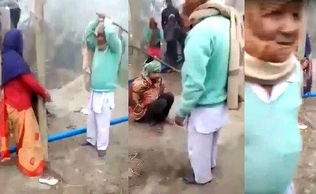 तालिबानी फरमान : प्रेमी और प्रेमिका को खूंटे से बांध कर बेरहमी से की गयी पिटाई