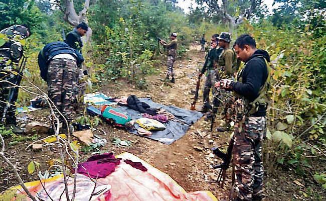 लोहरदगा के जंगल में उग्रवादी कैंप ध्वस्त