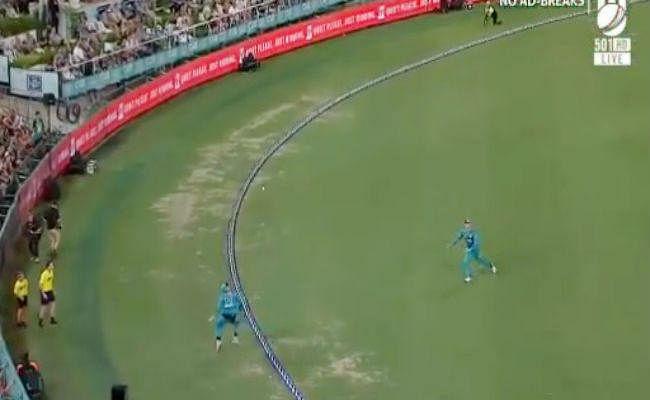 बाउंड्री पर ऐसा मजेदार कैच नहीं देखा होगा, अंपायर भी नियम में उलझे, देखें VIDEO