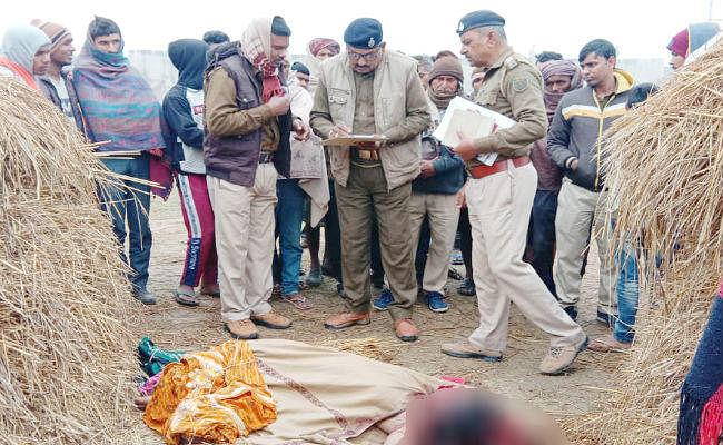 भोजपुर में मिला युवती का अर्द्धनग्न शव, ग्रामीणों ने जतायी रेप के बाद हत्या की आशंका