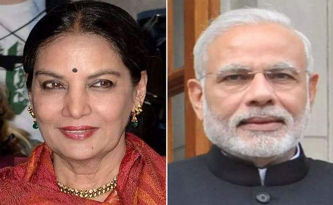 PM Modi ने शबाना आजमी के शीघ्र स्वस्थ होने की कामना की
