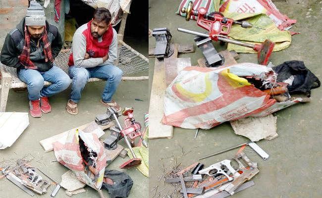 समस्तीपुर में मिनी गन फैक्टरी का उद्भेदन, भारी संख्या में अर्धनिर्मित हथियार बरामद