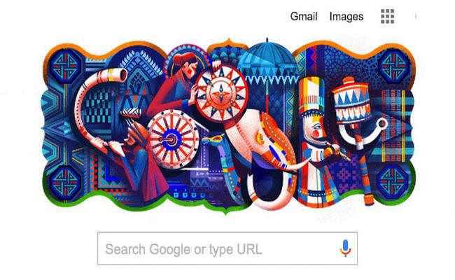 Republic Day 2020: डूडल गूगल ने रंग-बिरंगा डूडल बनाकर भारत की विविधता, सौहार्द्र को दर्शाया