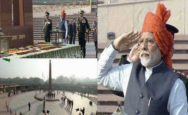 PM मोदी ने तोड़ी 48 साल पुरानी परंपरा, राष्ट्रीय युद्ध स्मारक पर शहीद जवानों को दी श्रद्धांजलि