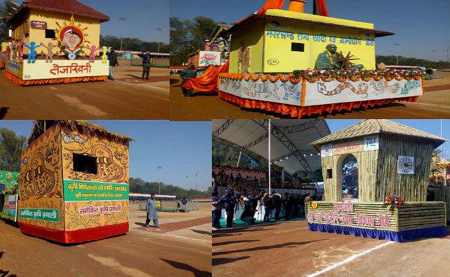 गणतंत्र दिवस समारोह: रांची के मोरहाबादी मैदान में निकाली गई झांकियों में दिखी झारखंड की संस्कृति