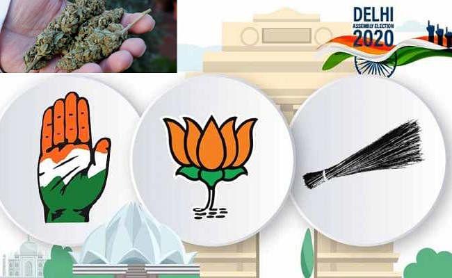 दिल्ली चुनाव में मतदाताओं को लुभाने के लिए गांजा सब पर भारी, जब्ती ने तोड़े पिछले रिकॉर्ड