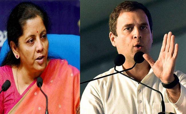 वित्त मंत्री जी मेरे सवालों से मत डरिए, जवाब देना आपकी जिम्मेदारी है: राहुल गांधी
