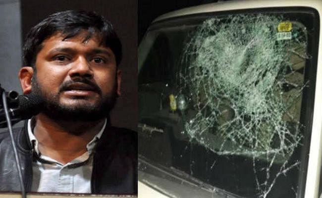 बिहार में कन्हैया कुमार के काफिले पर फिर हमला, ड्राइवर घायल