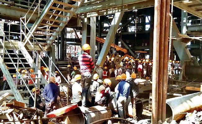 टंडवा एनटीपीसी में ब्वॉयलर निर्माण के दौरान हादसा, दो की मौत, तीन घायल