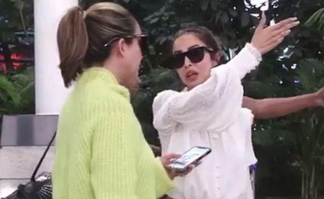 मलाइका अरोड़ा का फूटा गुस्सा, फोन पर कहा- हम नहीं आ सकते उधर...VIDEO