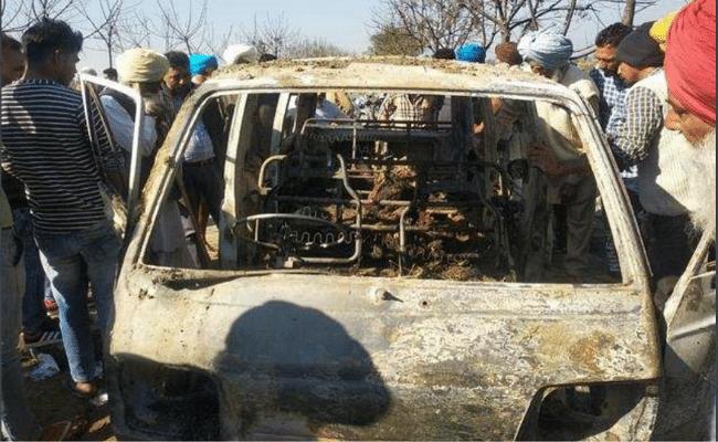 पंजाब के संगरूर में स्कूल वैन में आग लगी, झुलसने से चार बच्चों की मौत