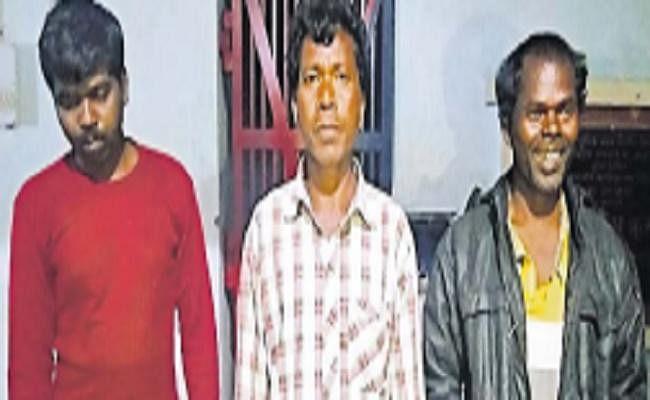 शराबी बनकर नाटकीय अंदाज में पहुंचे थानेदार, तीन विक्रेता गिरफ्तार